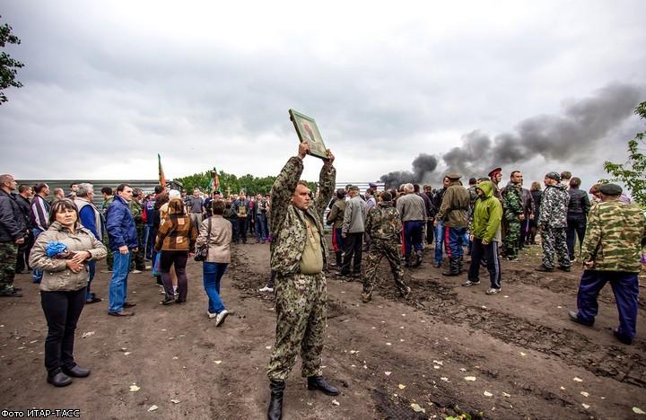 Сожжение вышек под Новохопёрском.