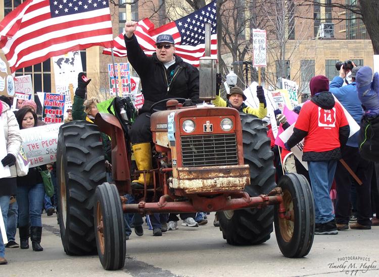 Протест в Висконсине в 2011 году
