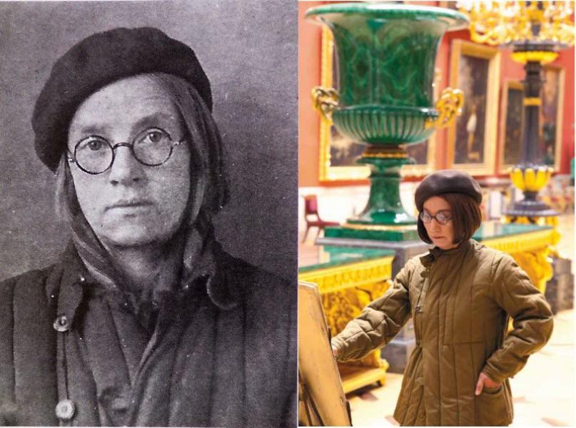 Вера Милютина, сотрудник Эрмитажа во время блокады Ленинграда, и Ясумаса Моримура в её образе.