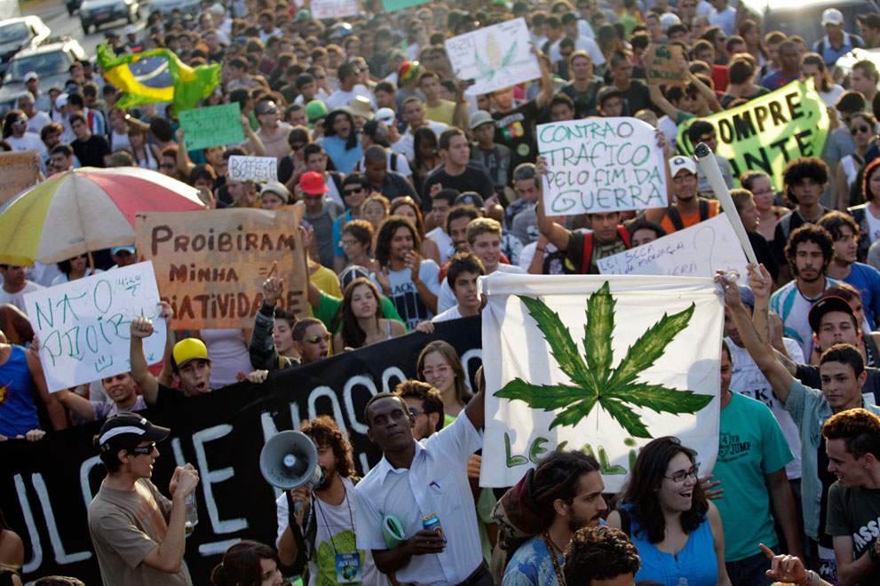 Митинг за легализацию марихуаны в Бразилиа