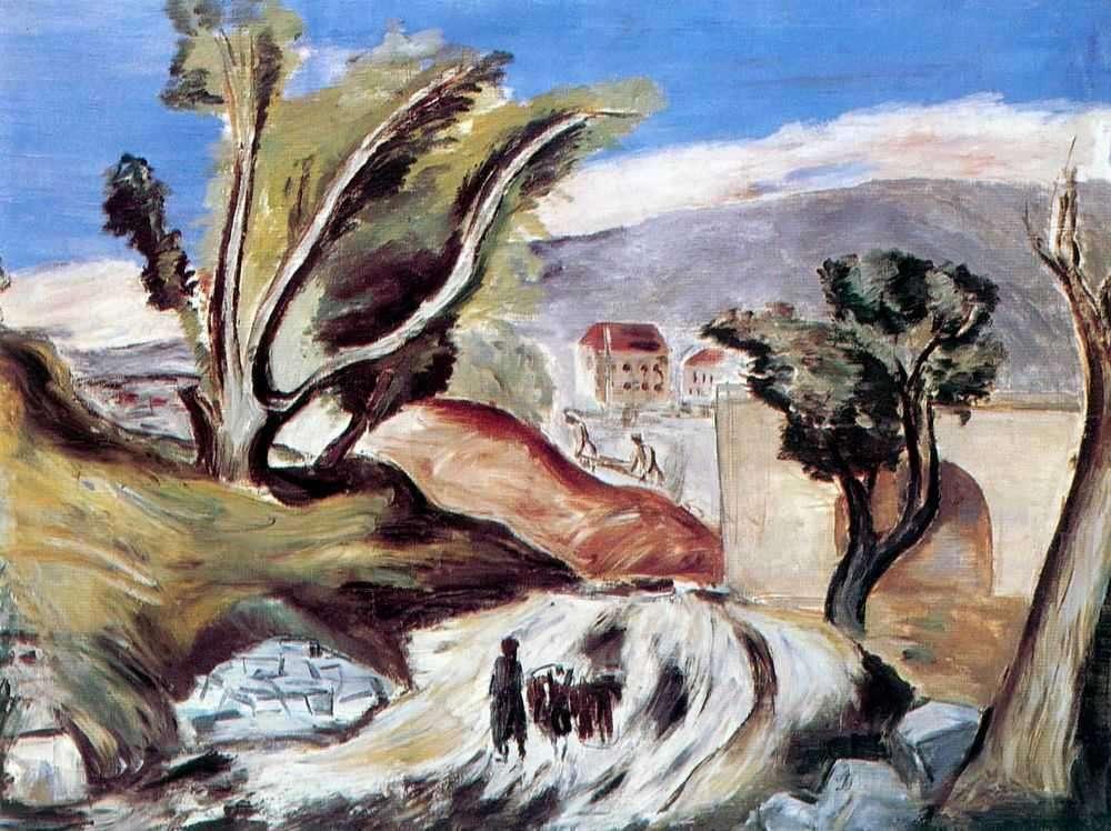 Александр Древин. Армения, Дорога в Норк, 1933