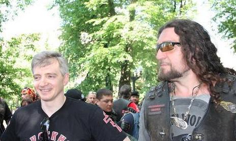 Новый глава депкульта Александр Кибовский в компании главного байкера-путиниста Хирурга