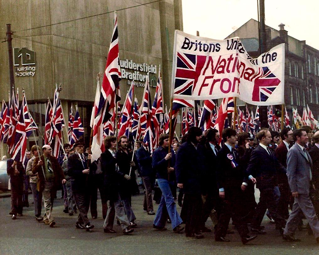 Демонстрация Национального фронта, 1970-е.