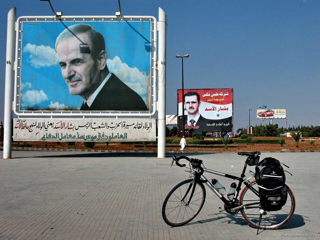 Хафез и Башар Асад.