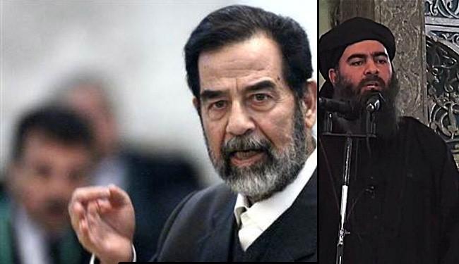 Саддам Хусейн и лидер ИГИЛ аль-Багдади.