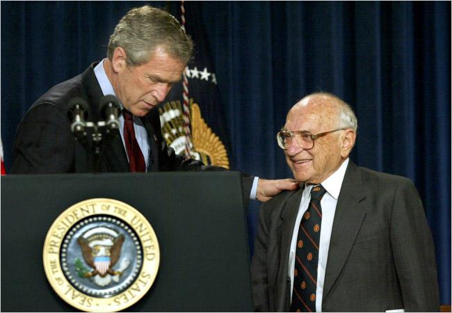 Джордж Буш-мл. и Милтон Фридман